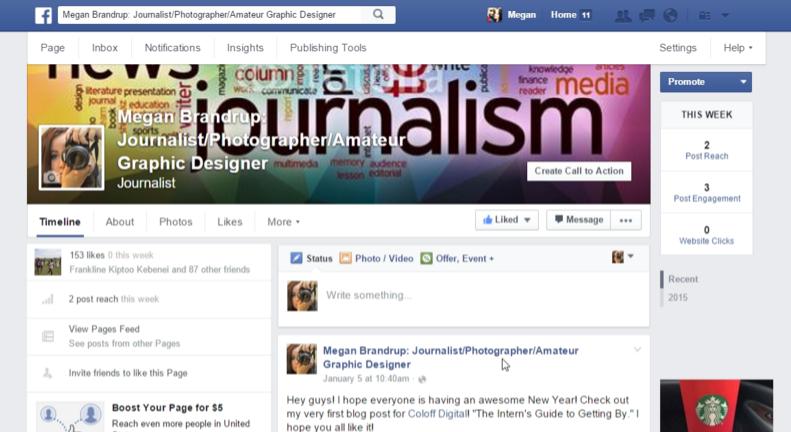 Megan Brandrup Social Media Facebook
