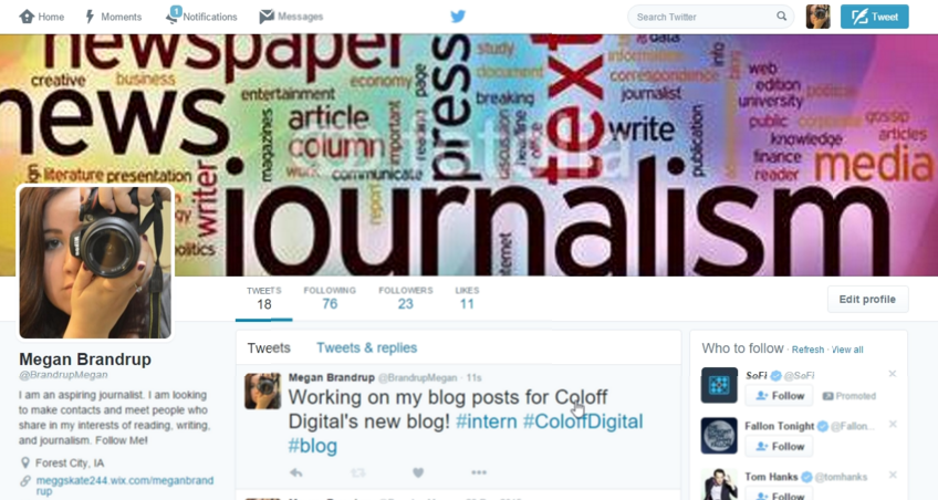 Megan Brandrup Social Media Twitter