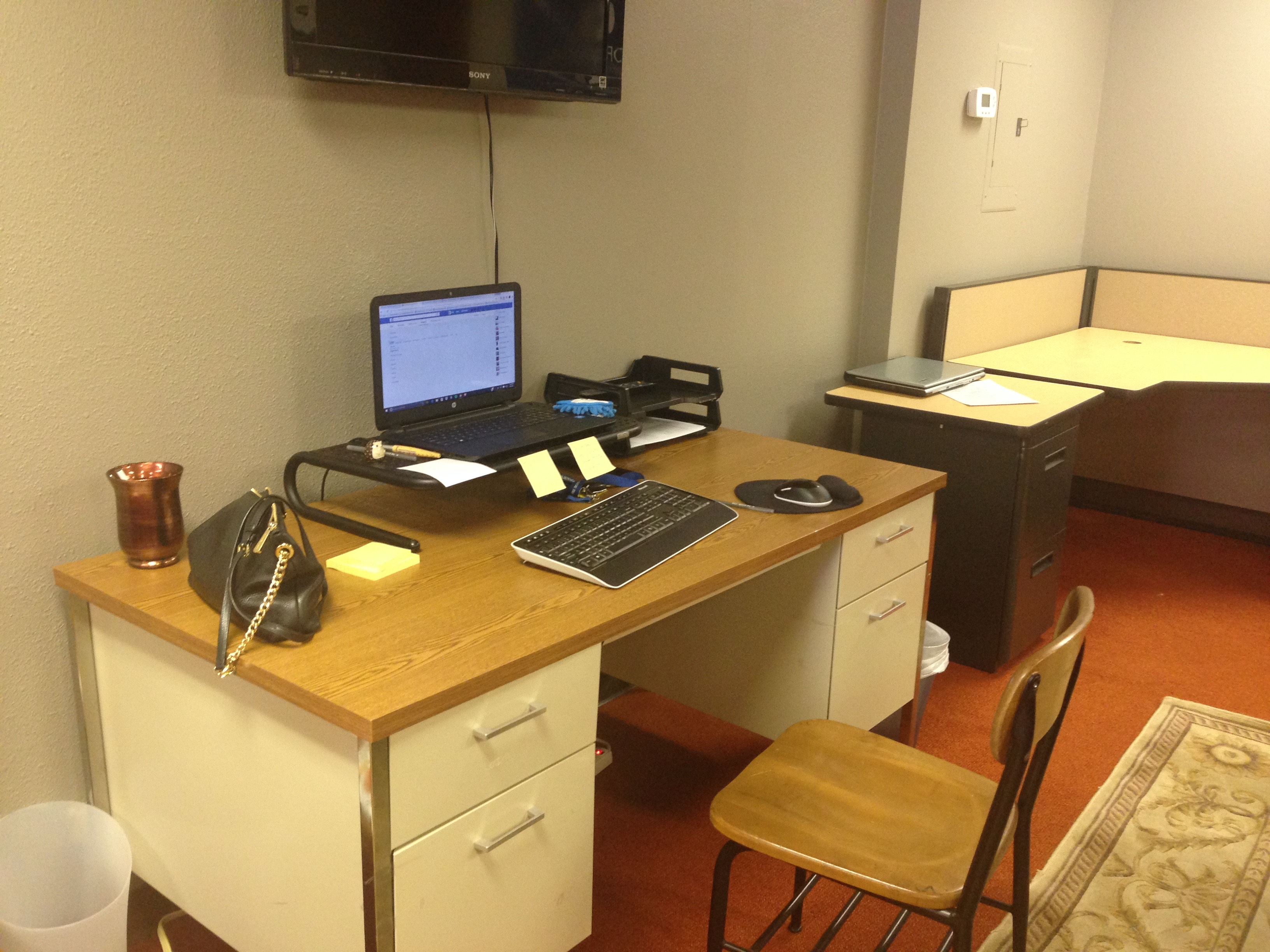 Here is our Marketing Assistant, Megan's new office area.