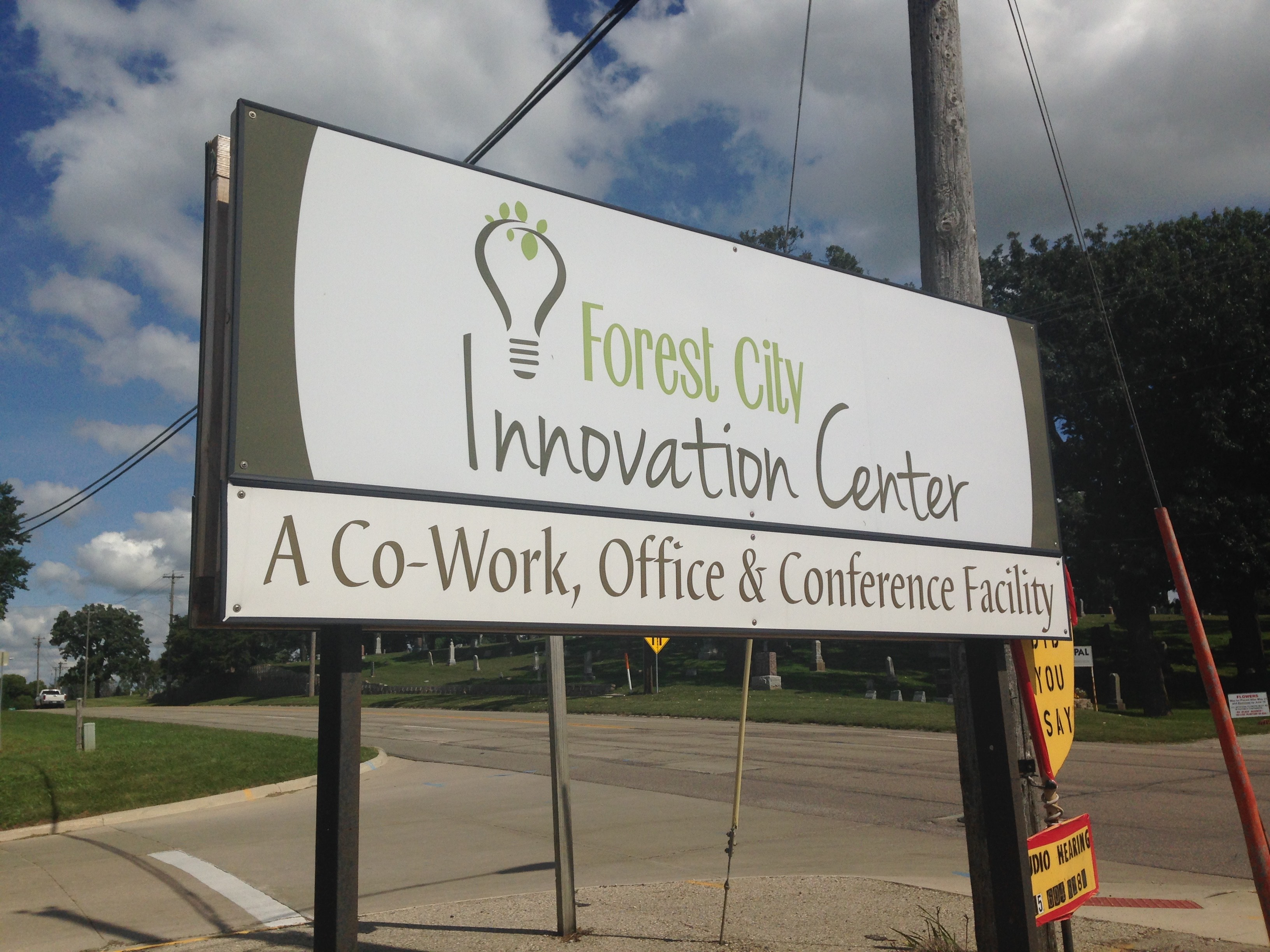 The whole team is so excited to be working inside of the Forest City Innovation Center!