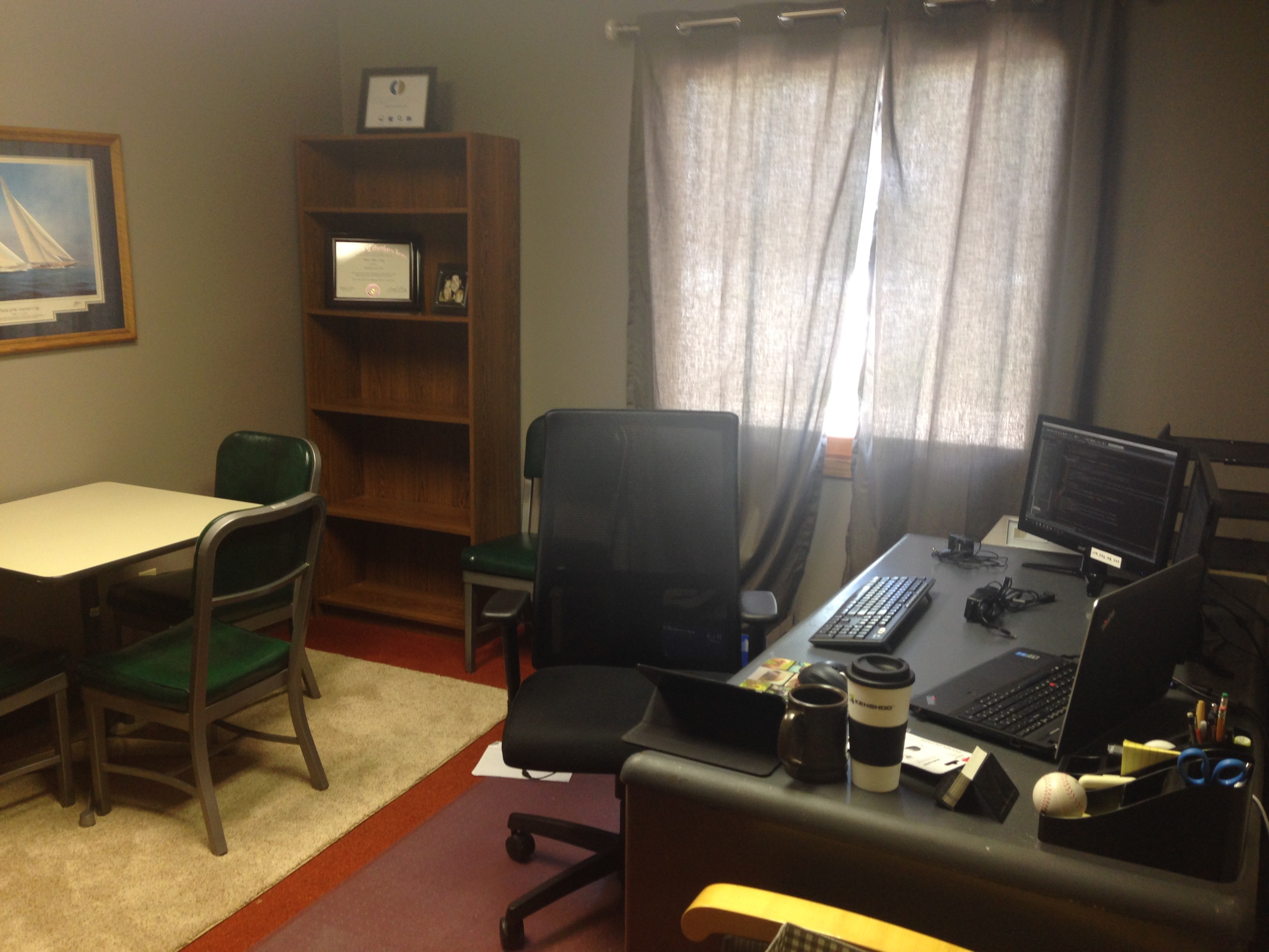 Coloff Digital's Manager, Weston Lohry, is very excited about his new office.