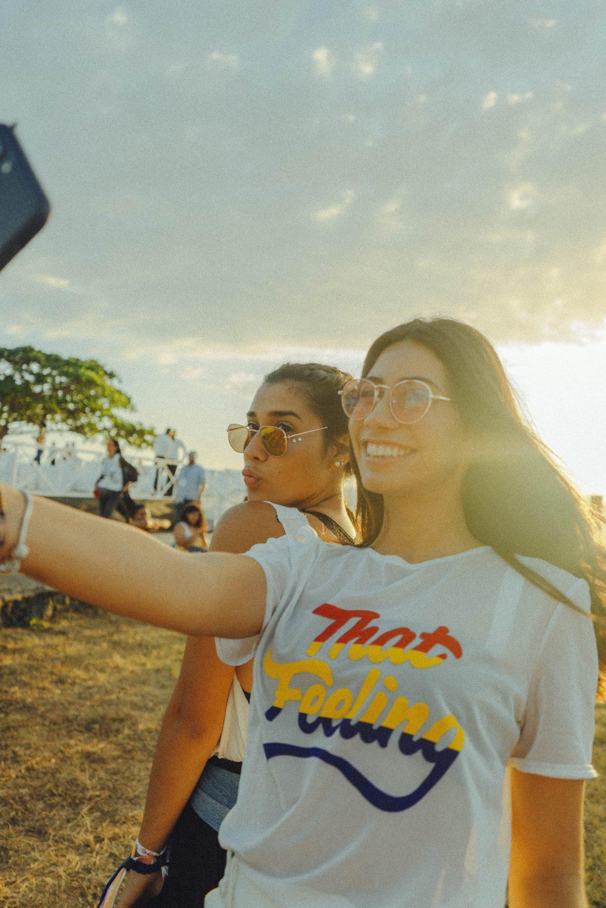 Selfie of young girls