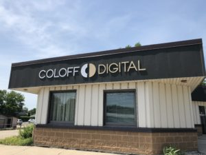 Coloff Digital-Forest City, Iowa-New Sign on Building