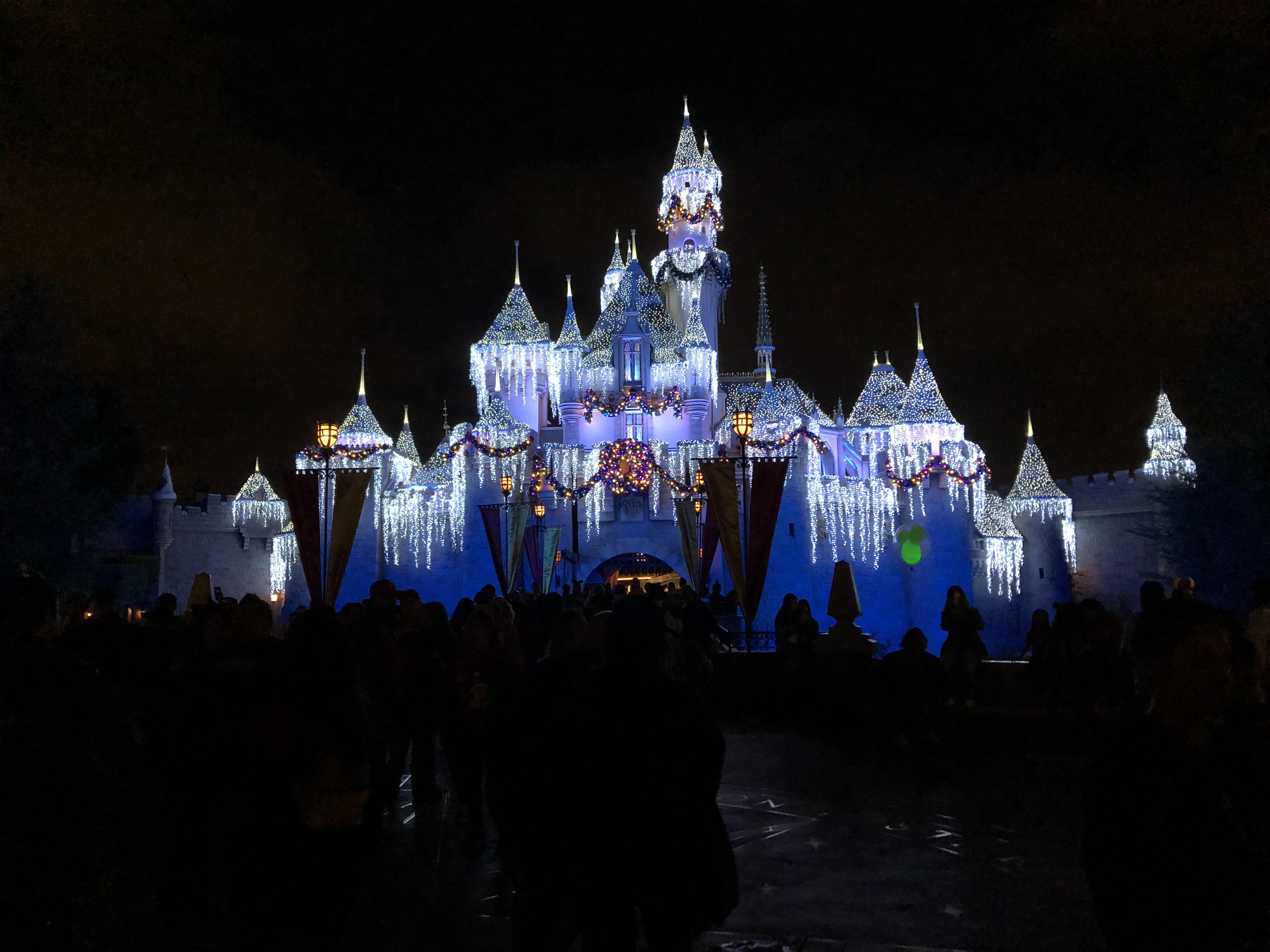 Christmas at Disneyland Castle