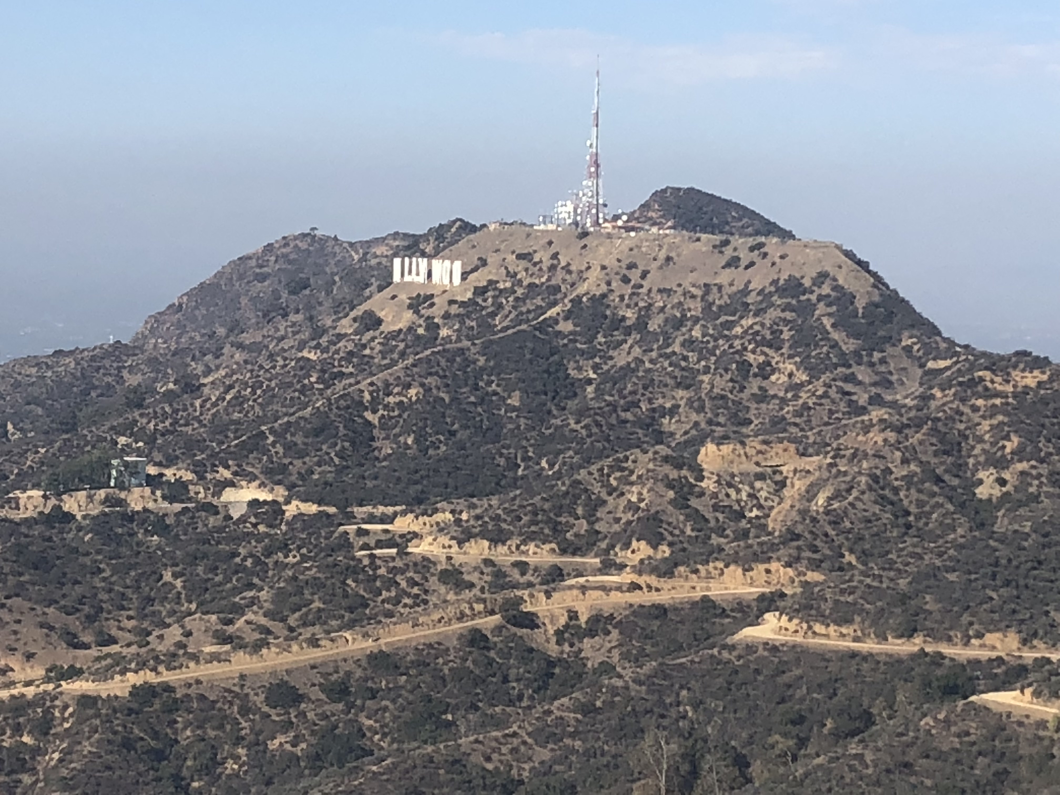 Hollywood sign from Mt. Hollywood