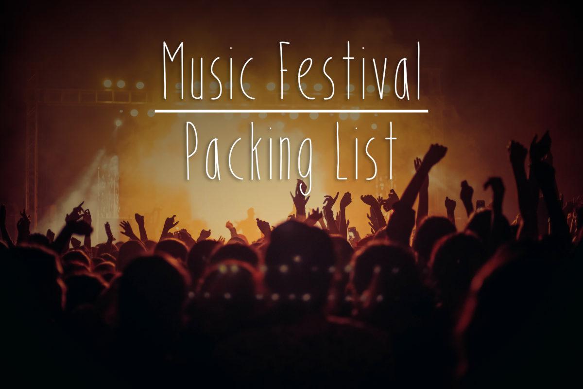 music festival packing list