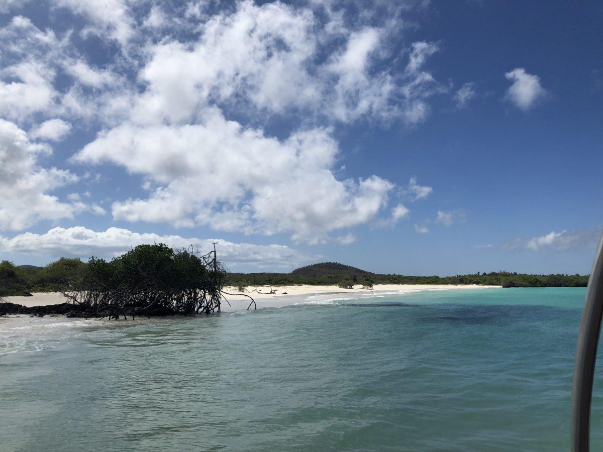 Hidden beach in Galapagos Islands
